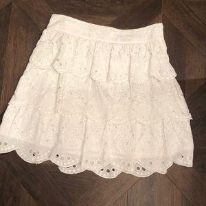 White eyelet skirt by Michael Kors.
